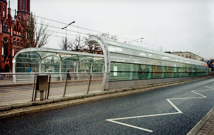 Shelters for Warsaw tram stops